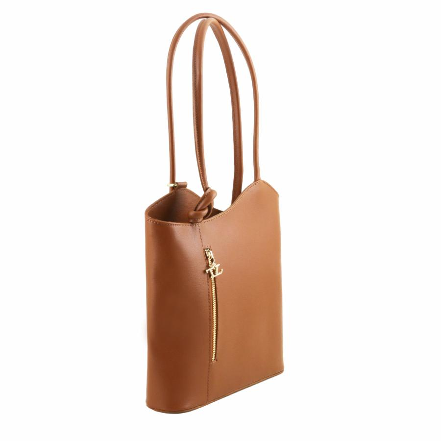 Dos Transformable Cuir Sac Femme Leather À Camel Tuscany WD9IHY2E