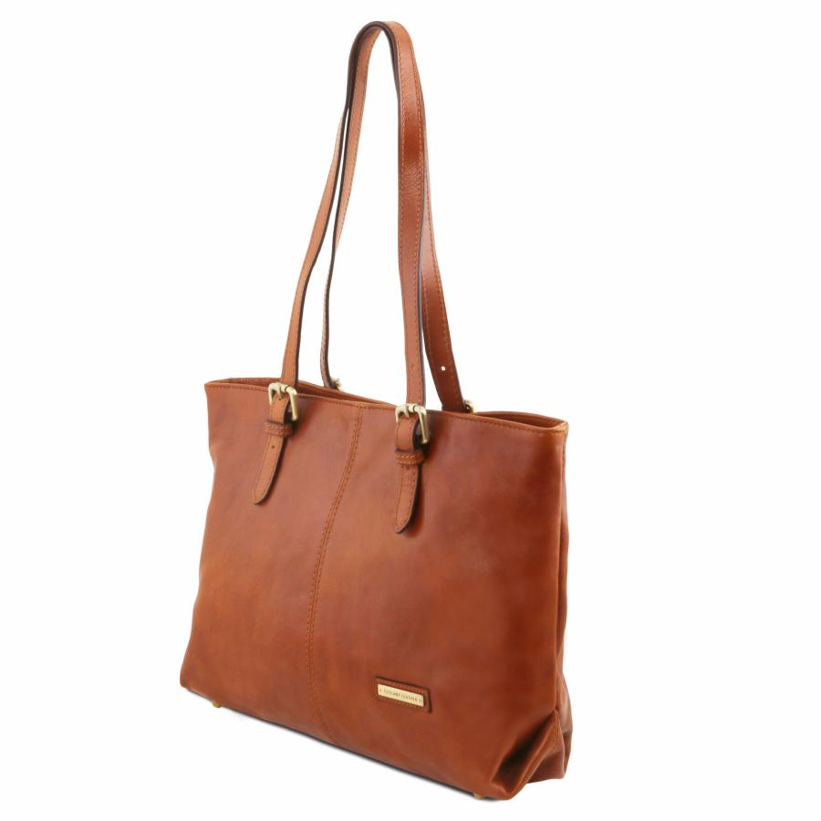 Grand Sac Bandoulière Cuir Femme : Grand sac bandouli?re cuir deux anses tuscany leather