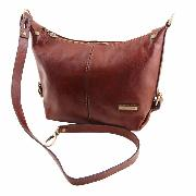Sac Cuir Souple Epaule Femme Marron -Tuscany Leather -