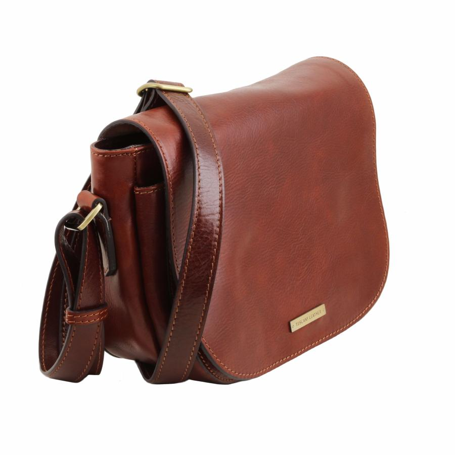 Sac Besace Bandouilère Cuir Femme Tuscany Leather