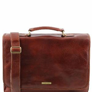 Sacoche Cuir Souple pour Ordinateur Marron - Tuscany Leather -