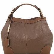 Sac Cabas Cuir Souple Femme Promo - Tuscany Leather -