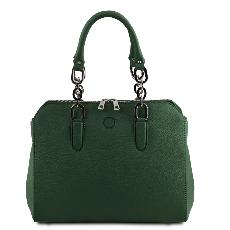Solde Sac Cuir double bandoulière Femme Vert - Tuscany Leather -
