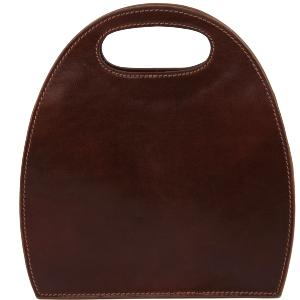 Sac à Main Marron Cuir Vintage Femme  -Tuscany Leather-
