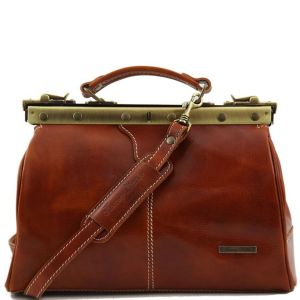 Sac Cuir Diligence Femme Camel -Tuscany Leather -