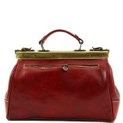 Sac Cuir Retro -Rouge- Style Medecin Femme MichelAngelo -Tuscany Leather-