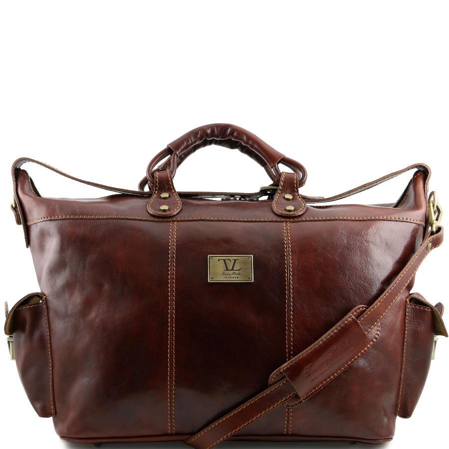 grand sac de voyage cuir avec bandouli re amovible tuscany leather. Black Bedroom Furniture Sets. Home Design Ideas