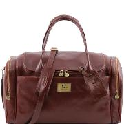 Grand Sac de Voyage Cuir Poches Cotés Marron  TL Voyager -Tuscany Leather-