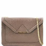 Sac Cuir Bandoulière Chainette Femme Taupe - Tuscany Leather -