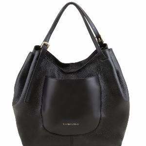 Femme Cuir Sac Leather Grand Besace Tuscany 8Own0Pk