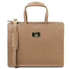Cartable Cuir pour Femme 3 Compartiments - Tuscany Leather -