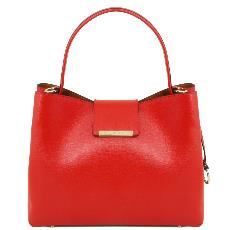 Sac Cuir Femme Rouge - Tuscany Leather -