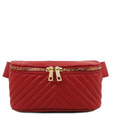 Sac Banane Cuir Souple Femme Rouge - Tuscany Leather -