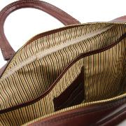 Solde Cartable Cuir Ordinateur Homme Marron -Tuscany Leather-