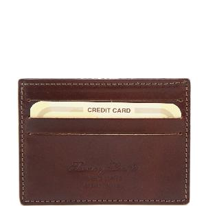 Porte Cartes de Crédit en Cuir Marron -Tuscany Leather-