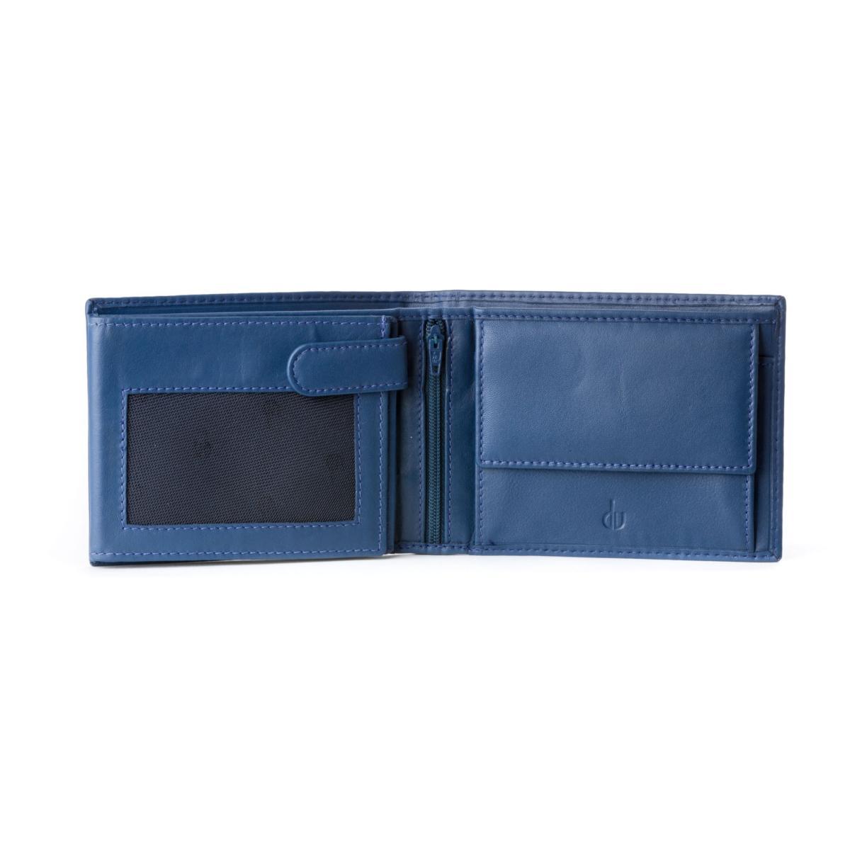 plus récent 56d9e db8f6 Portefeuille Pratique Cuir Homme Bleu - Dudubags -