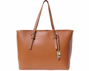 Grand Sac Cabas Cuir Femme Camel 2 Compartiments