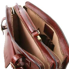 Sacoche Cuir Vintage Femme ou Homme Miel -Tuscany Leather-