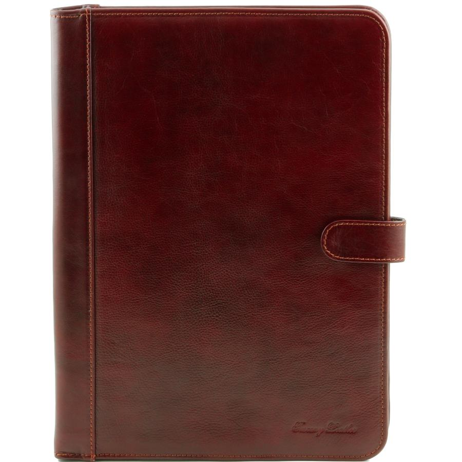 Conferencier Porte Document Cuir Marron Tuscany Leather