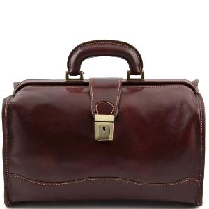 Sac Style Médecin Cuir Marron - Tuscany Leather -