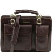 Sac Cartable Cuir Femme Poches - Tuscany Leather -