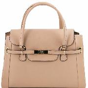 Nouvelle Collection Sac à Main Chic Cuir Véritable Femme - Tuscany leather-