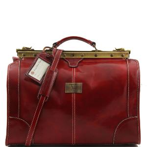 Sac de Voyage Cuir Vintage Rouge - Tuscany Leather -