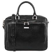 Cartable Cuir Porte Ordinateur Noir -Tuscany Leather -