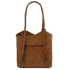Sac à Dos Cuir Transformable Femme Camel - Tuscany Leather -