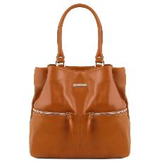 Sac Epaule Cuir Poches Femme  - Tuscany Leather -