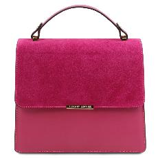 Sac Cuir Chic Chainette Femme Fuschia - Tuscany Leather -
