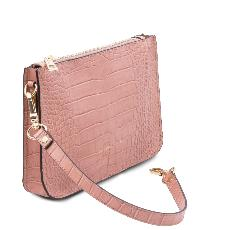 Sac à Main Cuir Croco Cassandra - Tuscany Leather -