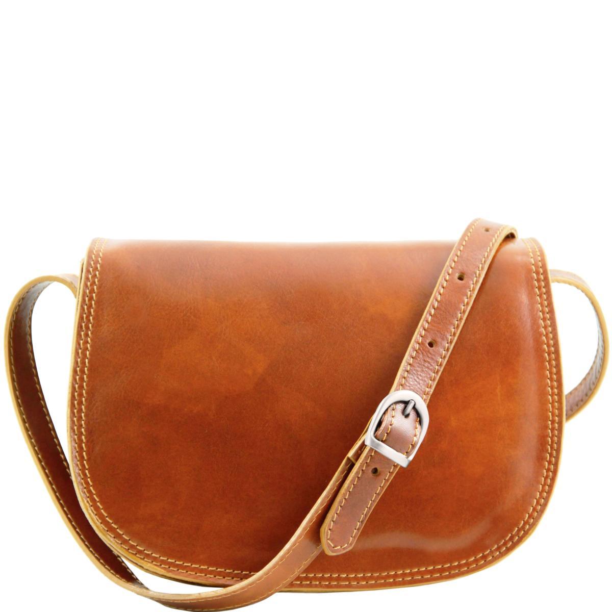 Sac Bandoulière Cuir Femme Camel - Tuscany Leather -