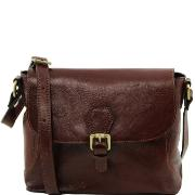 Sac Bandoulière Cuir Femme Marron - Tuscany Leather -