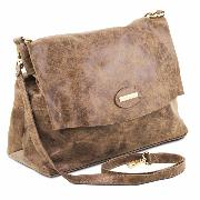 Sac Bandoulière Besace Cuir Vieilli Femme -Tuscany Leather-