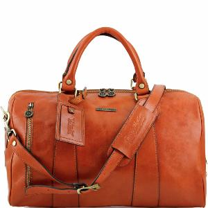Sac de Voyage Cuir Avion Miel -Tuscany Leather-