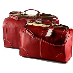 Ensemble de Voyage Cuir Vintage Rouge - Tuscany Leather -