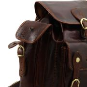 Sac a Dos Cuir Vintage Marron Pechino-Tuscany Leather-