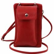 Sacoche Cuir Sécurité Rouge -Tuscany Leather -