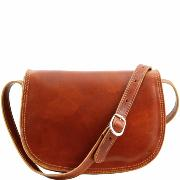 Sac Bandoulière Cuir Femme Isabella Camel  -Tuscany Leather-