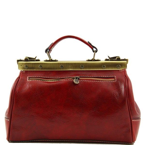 sac à main cuir retro couleur rouge style medecin pour femme le sac ...