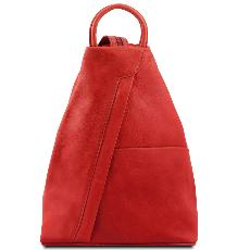 Solde Sac à Dos Ville Cuir Rouge Femme - Tuscany Leather -