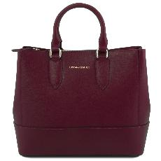 Solde Sac Cuir Femme 2 Compartiments Bordeaux - Tuscany Leather -