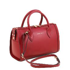 Sac Cuir Bowling Femme Rouge - Tuscany Leather -