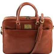 Cartable Cuir Ordinateur Miel Homme -Tuscany Leather-