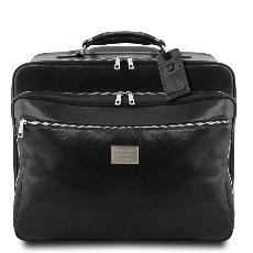 Pilot Case Cuir Fonctionnel Roulettes - Tuscany Leather -