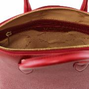 Petit Sac Cuir Rouge Femme -Tuscany Leather-