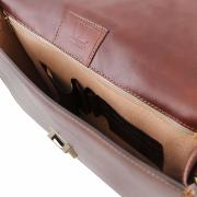 Cartable Classique Cuir  Marron - Tuscany Leather -