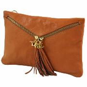 Nouvelle Collection Sac Pochette Cuir Femme Rouge  -Tuscany Leather-