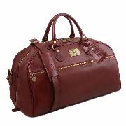 Grand Sac de Voyage Cuir Bandoulière Marron  -Tuscany Leather-
